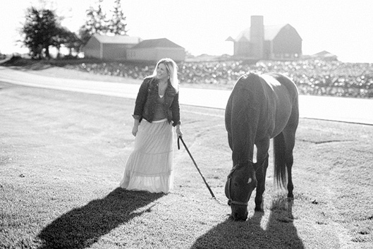 Erin and Hobbes - a morning on the farm 034